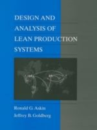 Design and Analysis of Lean Production Systems 1st Edition 9780471115939 0471115932
