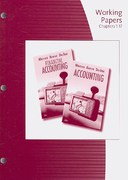 Working Papers, Chapters 1-17 for Warren/Reeve/Duchac's Accounting and and Financial Accounting 23rd edition 9780324663983 0324663986