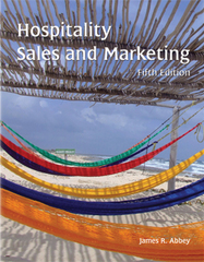 Hospitality Sales and Marketing 5th edition 9780866123259 0866123253