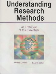 Understanding Research Methods-7th Ed 7th Edition 9781884585838 1884585833