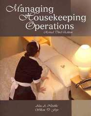 Managing Housekeeping Operations 3rd Edition 9780866123365 0866123369