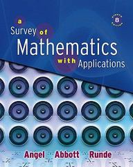 Survey of Mathematics with Applications Value Package (includes MathXL 12-month Student Access Kit) 8th edition 9780321566874 0321566874