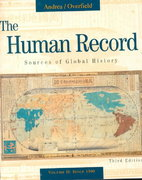 The Human Record 3rd edition 9780395870884 0395870887