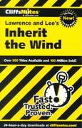 CliffsNotes on Lawrence and Lee's Inherit the Wind 1st edition 9780764585548 0764585541