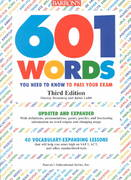601 Words You Need to Know to Pass Your Exam 3rd edition 9780812096453 0812096452