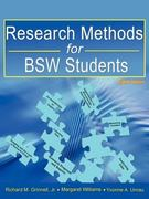 Research Methods for Bsw Students (8th Ed.) 0 9780981510040 0981510043