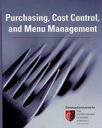 Purchasing, Cost Control, and Menu Management 1st Edition 9780470179161 0470179163