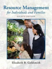Resource Management for Individuals and Families 4th edition 9780135001301 0135001307