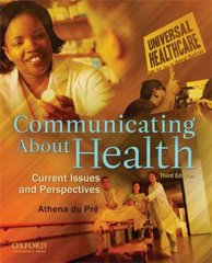 Communicating About Health 3rd edition 9780195380330 0195380339
