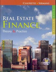 Real Estate Finance 6th Edition 9780324784756 0324784759