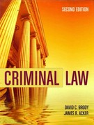 Criminal Law 2nd Edition 9780763759131 0763759139