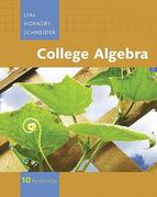 College Algebra Value Pack (includes Student Solutions Manual for College Algebra & Video Lectures on CD with Optional Captioning for College Algebra) 10th edition 9780321533326 0321533321