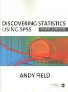 BUNDLE: Field, Discovering Statistics Using SPSS, 3e 'and' SPSS CD Version 17.0 3rd edition 9781412977524 1412977525