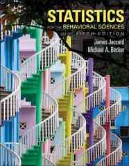 Statistics for the Behavioral Sciences 5th Edition 9780534634032 0534634036