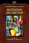 Current Directions in Motivation and Emotion for Motivation 1st edition 9780205680115 0205680119