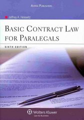 Basic Contract Law for Paralegals 6th Edition 9780735587267 0735587264