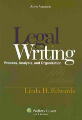 Legal Writing and Analysis 5e 5th Edition 9780735585140 0735585148