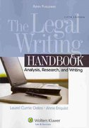 The Legal Writing 5th edition 9780735585164 0735585164