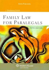Family Law for Paralegals 5e 5th edition 9780735587731 0735587736