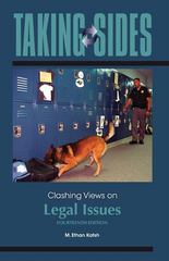 Taking Sides: Clashing Views on Legal Issues 14th Edition 9780078127595 0078127599