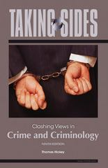 Taking Sides: Clashing Views in Crime and Criminology 9th edition 9780078139437 0078139430