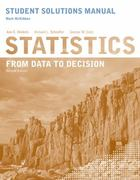 Statistics, Student Solutions Manual: From Data to Decision 2nd edition 9780470530603 047053060X