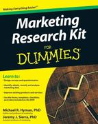 Marketing Research Kit For Dummies 1st Edition 9780470520680 047052068X