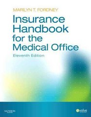 Insurance Handbook for the Medical Office 11th edition 9781437701289 1437701280