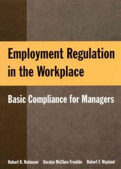 Employment Regulation in the Workplace 1st Edition 9780765623508 0765623501