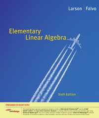 Elementary Linear Algebra, Enhanced Edition (with Enhanced WebAssign 1-Semester Printed Access Card) 6th edition 9781439044001 1439044007