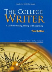 The College Writer 3rd edition 9780495803409 0495803405