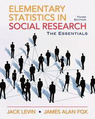 Elementary Statistics in Social Research 3rd edition 9780205638000 0205638007