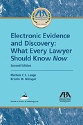 Electronic Evidence and Discovery 2nd edition 9781604423822 160442382X