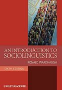 An Introduction to Sociolinguistics 6th Edition 9781405186681 1405186682
