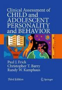 Clinical Assessment of Child and Adolescent Personality and Behavior 3rd Edition 9780387896427 0387896422
