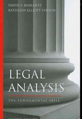 Legal Analysis 2nd Edition 9781594602795 1594602794
