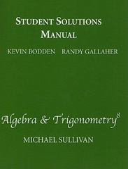 Student Solutions Manual  for Algebra & Trigonometry 8th edition 9780321628909 032162890X