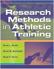 Research Methods in Athletic Training 1st Edition 9780803607781 0803607784