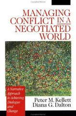 Managing Conflict in a Negotiated World 1st Edition 9781452264400 1452264406
