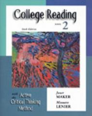 College Reading with the Active Critical Thinking Method 6th edition 9780155066816 0155066811