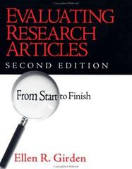 Evaluating Research Articles from Start to Finish 2nd edition 9780761922148 0761922148