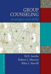 Group Counseling 6th Edition 9780495554363 0495554367