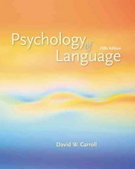 Psychology of Language 5th edition 9780495099697 0495099694
