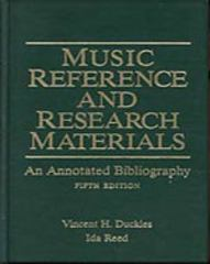 Music Reference and Research Materials 5th edition 9780028708218 0028708210