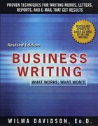 Business Writing 1st Edition 9780312109486 0312109482