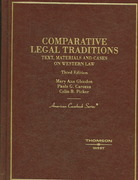 Comparative Legal Traditions 3rd edition 9780314144089 0314144080