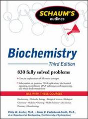 Schaum's Outline of Biochemistry, Third Edition 3rd edition 9780071472272 0071472274