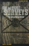Mail and Internet Surveys 2nd edition 9780471323549 0471323543