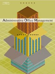 Administrative Office Management, Short Course 13th edition 9780538727693 0538727691