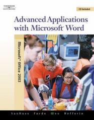 Advanced Applications with Microsoft Word (with Data CD-ROM) 2nd edition 9780538728287 0538728280